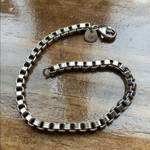 Tiffany & Co Venetian Box Chain Sterling Bracelet